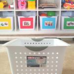 Organization: Playroom bins