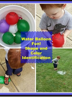 Move and Learn: Shape and Color Identification with Water Balloons