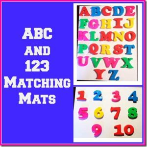 ABC and 123 Matching Mat