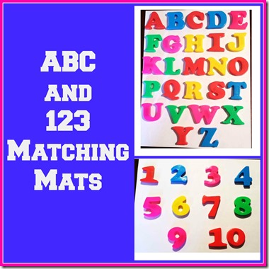 ABC and 123 Matching Mats