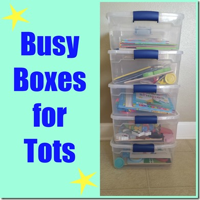 Busy Boxes for Tots from Mom Inspired Life