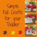 Fall Activities for Toddlers: Part 1