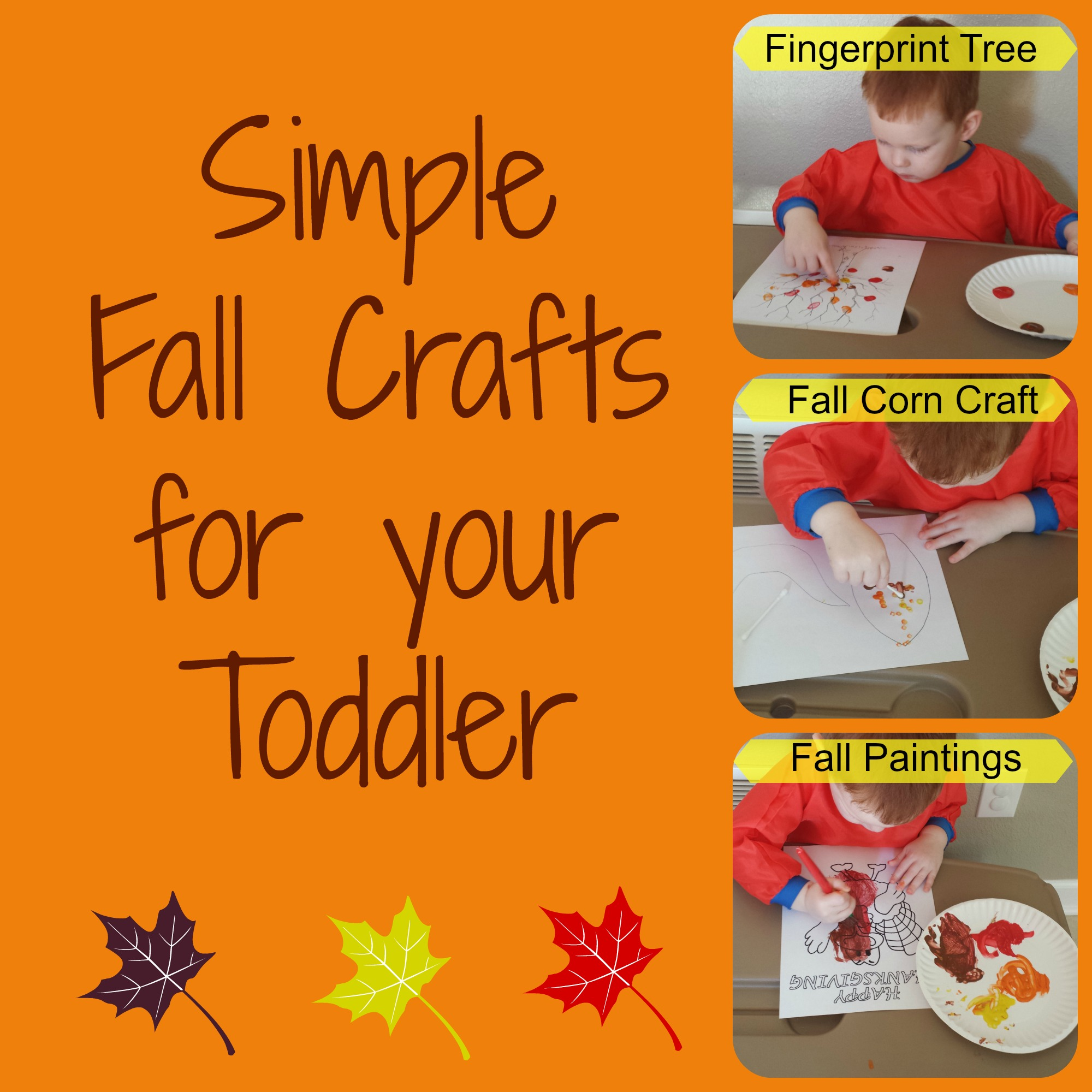 Fall Activities For Toddlers Part 1