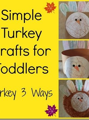 Fall Activities for Toddlers: Turkey 3 Ways