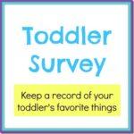 Toddler Survey