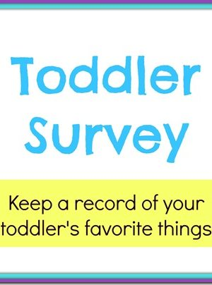 Toddler Survey