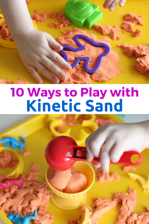 baebe1a085 10 Ways to Play with Kinetic Sand. Lots of fine motor practice!