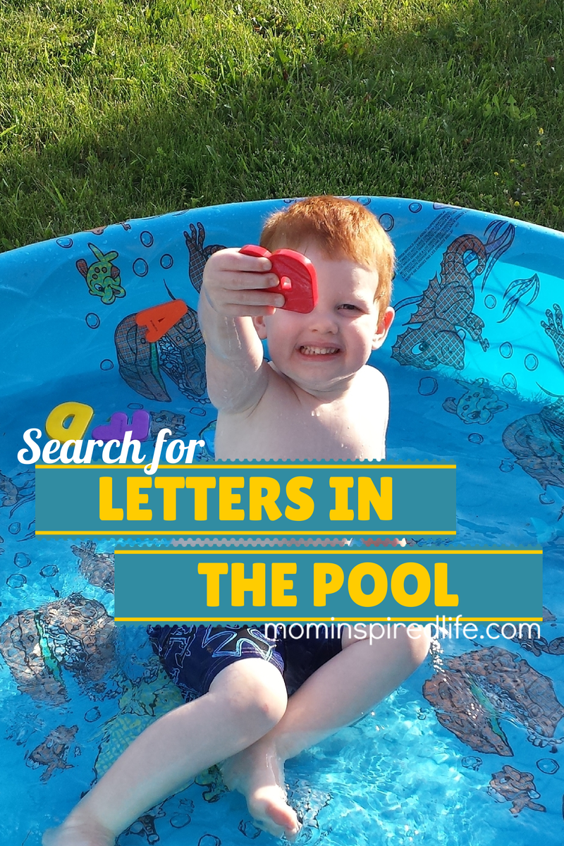Search for Letters in the Pool. Preschool alphabet activity!