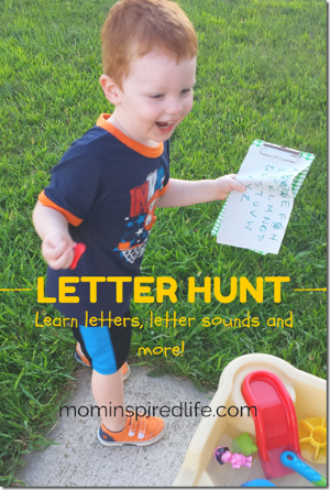 Outdoor Letter Hunt