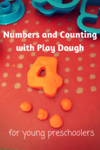 Number Recognition and Counting with Play Dough