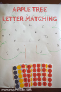 Alphabet Activity Apple Tree Letter Matching