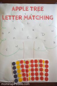 Alphabet Activity Apple Tree Letter Matching