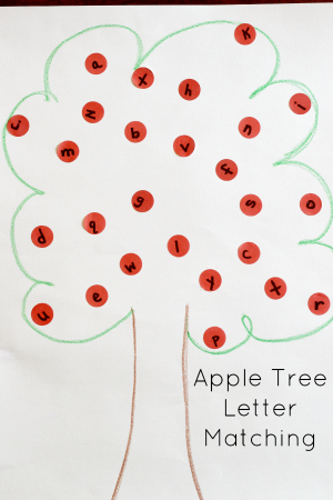 Apple Alphabet Activity: Apple Tree Letter Matching