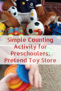 Counting with Preschoolers: Pretend Store Dramatic Play