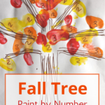 Preschool Number Recognition: Fall Tree Paint by Number