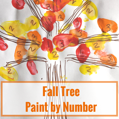 Fall Tree Paint by Number