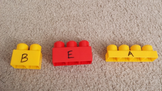 Letter Learning Activities with Mega Bloks