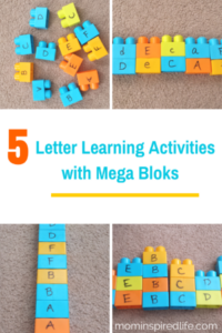 5 Letter Learning Activities with Mega Bloks