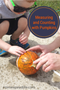 Preschool Math: Measuring Pumpkins #PlayfulPreschool