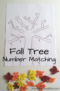 Number Recognition Fall Tree Number Matching