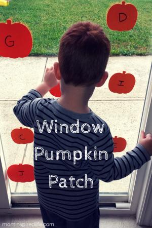 Alphabet Activity Window Pumpkin Patch