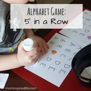 Alphabet Game 5 in a Row