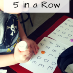 Alphabet Activities: 5 Letters in a Row