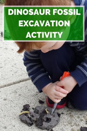 Dinosaur Fossil Excavation Activity