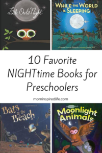 Preschool Literacy 10 Nighttime Books for Preschoolers