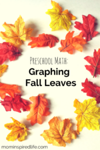 Preschool Math: Graphing Fall Leaves