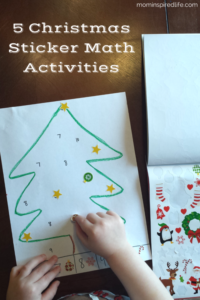 5 Christmas Sticker Math Activities for Preschoolers. These activities integrate fine motor practice and math!