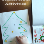 5 Christmas Sticker Preschool Math Activities