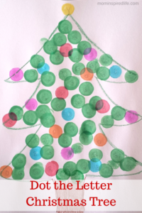 Alphabet Activity: Dot the Letter Christmas Tree. A fun Do A Dot marker activity for the holidays!