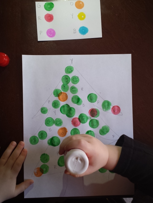 Alphabet Activity Dot the Letter Christmas Tree. Do a Dot activity for preschoolers!