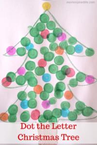 Alphabet Activity Dot the Letter Christmas Tree