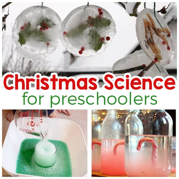 Christmas science activities for preschoolers! Fun and engaging Christmas science experiments!