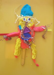 Invitation to Make a Scarecrow with Play Dough. Great fine motor skills practice for fall!