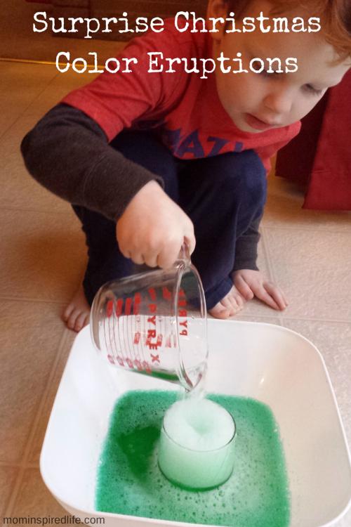 Surprise Christmas Color Eruptions Preschool Science