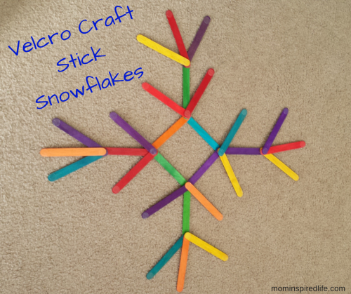 Velcro Craft Stick Snowflakes. A fun activity that encourages critical thinking and creativity!