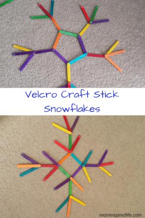 Velcro Craft Stick Snowflakes