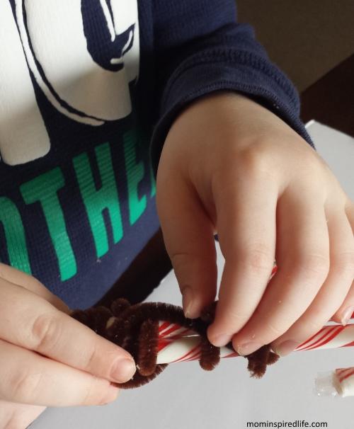 Candy Cane Reindeer Treats