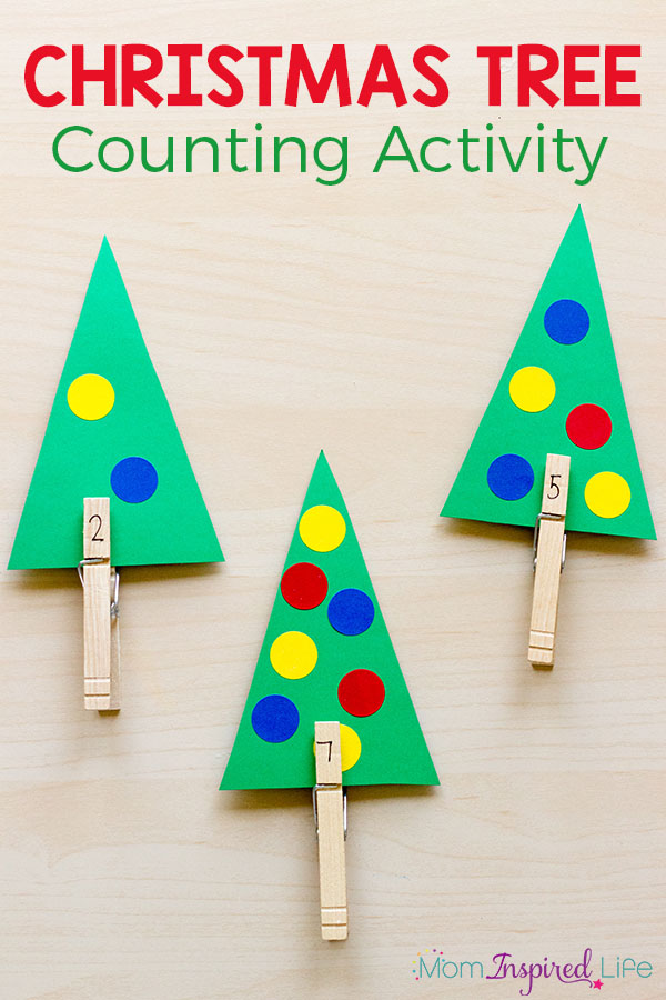 Christmas Tree Counting Math Activity