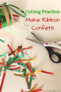 Cutting Practice: Make Ribbon Confetti
