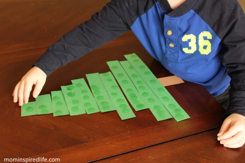 Evergreen Tree Math Counting and Ordering Activity 1