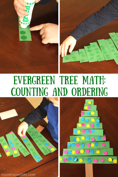 Evergreen Tree Math Activity on I Like To Add A Counting An The Worksheets