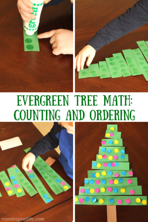 Evergreen Tree Math Counting and Ordering Activity