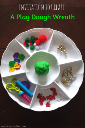 Invitation to Create a Wreath with Play Dough