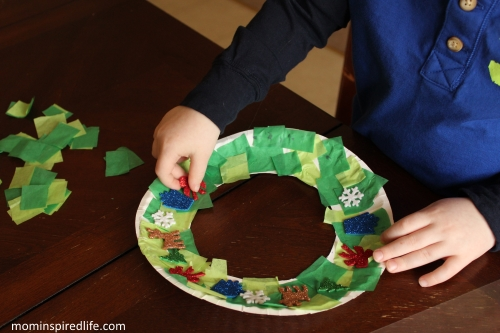 Pattern Christmas Wreath Craft