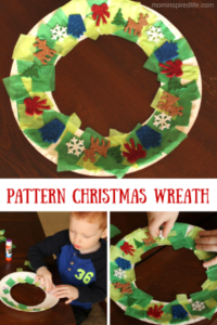 Sticker Pattern Christmas Wreath Craft