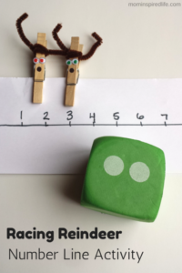 Racing Reindeer Number Line Activity. Develop counting and number recognition skills!
